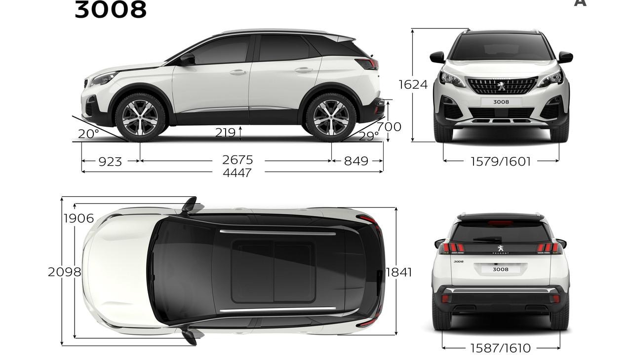 peugeot 3008 informa es t cnicas o suv da peugeot. Black Bedroom Furniture Sets. Home Design Ideas