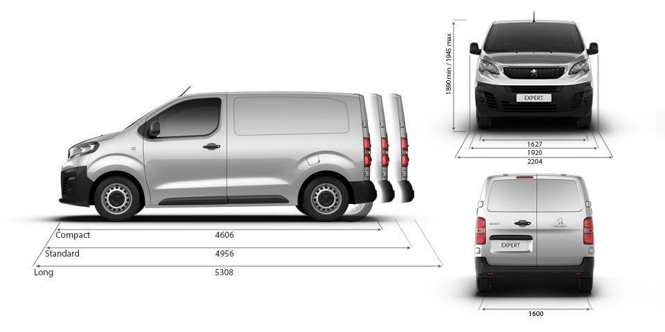 Peugeot-Novo-Expert-Furgão-DIMENSÕES-Exterior